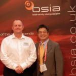 BSIA Export Council chairman Ian Moore of Elmdene (left) at Intersec 2015