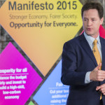 Nick Clegg is focusing on crime prevention as a major element of his party's General Election Manifesto