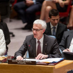 Interpol's Secretary General Jürgen Stock addresses the United Nations Security Council Ministerial Briefing on Foreign Terrorist Fighters