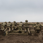 British Army soldiers taking part in a training exercise