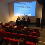 Alan Clamp (CEO of the SIA), Mike White (IPSA) and Elizabeth France (Chairman of the SIA) take part in a Question and Answer session at IPSA's recent 2015 AGM