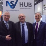 Left to Right: NSI CEO Richard Jenkins, FSA chairman Pat Allen and ECA Group CEO Steve Bratt at IFSEC International 2015
