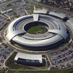 An aerial image of the Government Communications Headquarters (GCHQ) in Cheltenham, Gloucestershire
