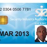 SIA Licence Card