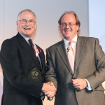 Former FIA CEO Graham Ellicott (left) and Martin Harvey, chairman of the Trade Association