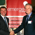 Left to Right: Jeremy Horner (CEO of Emerge Poverty Free) and The Security Institute's chairman Garry Evanson CSyP