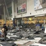 The devastating aftermath at Zaventem International Airport following the terrorist attack