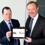 Espion's managing director Colman Morrissey (left) and Howard Kerr, CEO at the BSI