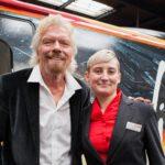 Sir Richard Branson and Tammy Moreton