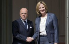 Bernard Cazeneuve (left, the Interior Minister of France) meets Home Secretary Amber Rudd to discuss security and counter-terrorism issues