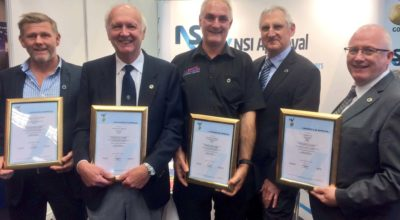 Left to Right: Peter Granville (Broadsword Security Services), Paul Beck (A1 Security Systems Ltd), Steve Broughton (Autogate Systems Ltd), Richard Jenkins (CEO, NSI and Stephen Winter (Tremorfa Ltd)
