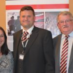 Alan Wallace (centre) of Showsec pictured with representatives of the FSOA