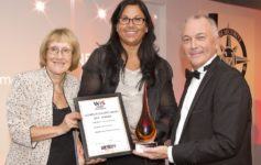 Left to Right: Former SIA chairman Baroness Ruth Henig, Yasmeen Stratton of SSR Personnel and Professional Security's managing director Roy Cooper, who organises the annual Women in Security Awards