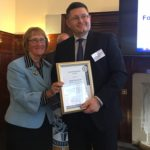 Roddy Drummond of the FCO pictured with Baroness Ruth Henig, president of The Security Institute