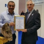 Left to Right: John Helas (managing director of Stanley Security Solutions) pictured with NSI CEO Richard Jenkins at the certificate presentation ceremony