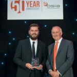 Daniel Hennell receives his Special Award from the BSIA's CEO James Kelly