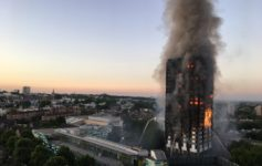 The Grenfell Tower blaze in June