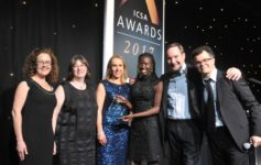 The team from Land Securities with (far right) presenter Dominic Holland