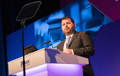 Simon Kempton speaking at the Police Federation's Annual Conference