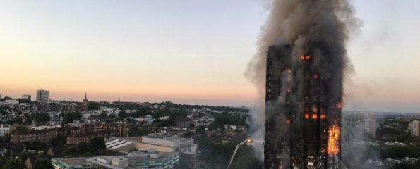 The devastating fire at Grenfell Tower in West London took place in June 2017