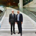 Interpol's Secretary General Jürgen Stock (left) with Home Secretary Sajid Javid