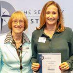 Baroness Henig of Lancaster (left) and Esoteric's business development executive Amanda Grindell