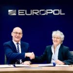 Steven Wilson and Maria Vello sign the Memorandum of Understanding at Europol's headquarters