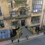 The facade of the Mackintosh Building at the Glasgow School of Art
