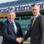 Andy Davis (left), managing director of Trident Manor, and Richard Knight, chief operating officer at Newcastle International Airport