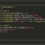 Figure 1 Code snippet from phishing landing page with displayed text encoded despite decoded rendering