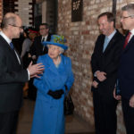 The heads of GCHQ, MI5 and MI6 pictured with Her Majesty The Queen at Watergate House © Crown Copyright 2019