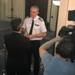NPCC chair Martin Hewitt being interviewed