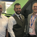 Left to Right: Gavin Dunleavy (commercial director, DVS), Clive Mason (managing director, Webeye), David Davies (CTO, DVS), Tim Goodson (managing director, DVS) and Mark Wall (sales director for UK and Europe, Webeye)