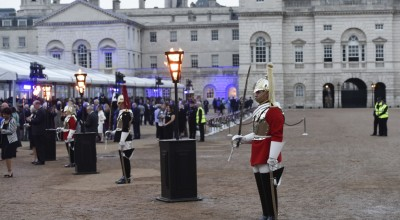 1,000 covers for guests were provided inside a temporary venue on the site of Horse Guards Parade