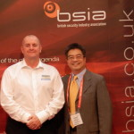 BSIA Export Council chairman Ian Moore of Elmdene (left) at Intersec 2015