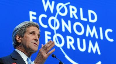 US Secretary of State John F Kerry at the World Economic Forum