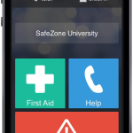 The Safe Zone app demonstrated on an iPhone