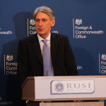 Foreign Secretary Philip Hammond speaking at RUSI