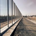 Perimeter security for the £250 million 'super prison' in Wrexham