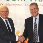Tavcom Training's Mike Tennent (left) and David Gill of the Linx International Group