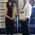Dom Parker receives a Special Recognition Award from Michelle Farrelly, Unipart's head of HR