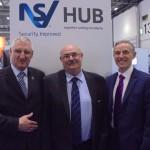 Left to Right: NSI CEO Richard Jenkins, FSA chairman Pat Allen and ECA Group CEO Steve Bratt at IFSEC International 2015