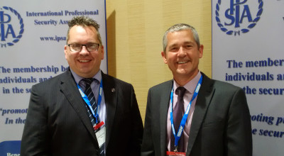 Left to Right: Justin Bentley (CEO at IPSA) and Tavcom's sales director Paul Tennent
