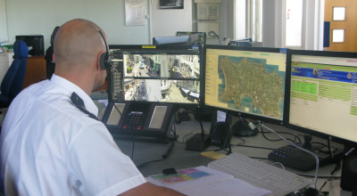Inside the States of Jesrey Police CCTV Control Room
