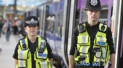 BTP officers on patrol