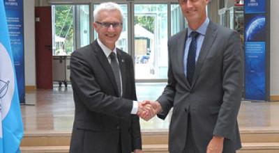 Left: Interpol's Secretary General Jürgen Stock and, right, Europol's director Rob Wainwright