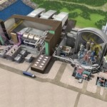 Rendered computer model of the proposed Hinkley Point C power plant