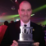 Solo Protect's managing director Craig Swallow picks up The Sunday Times Award