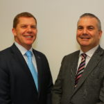 Ward Security's managing director Kevin Ward (left) and David Ward (CEO of Ward Security Holdings Ltd)