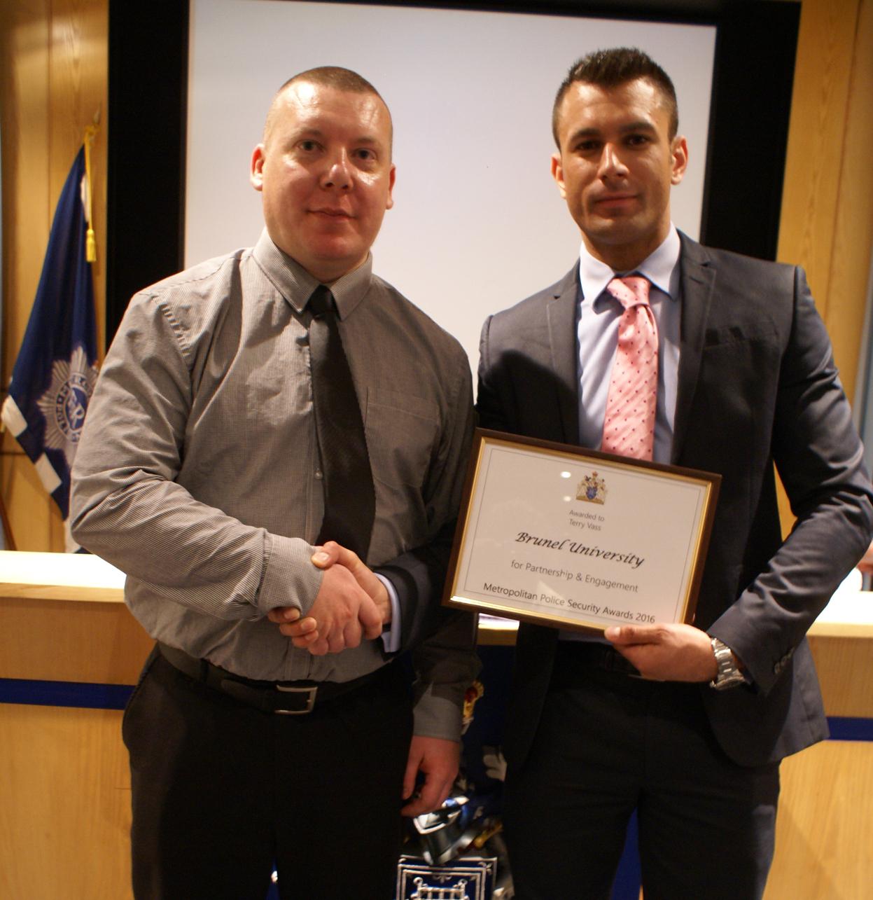 Risk UK Metropolitan Police Service hosts awards ceremony to